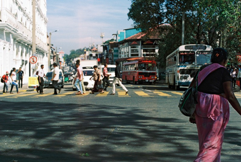 Busy street, near the Queen's Hotel in Kandy, Sri LAnka