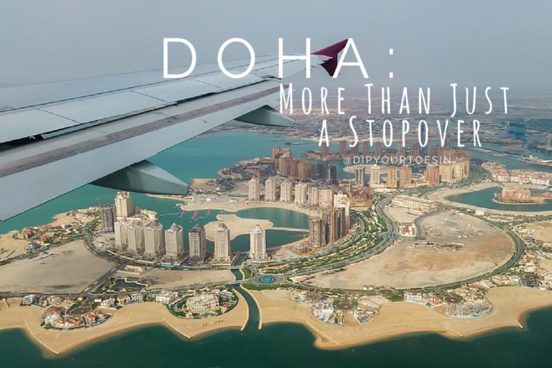 Doha skyline, flying over Qatar   @dipyourtoesin