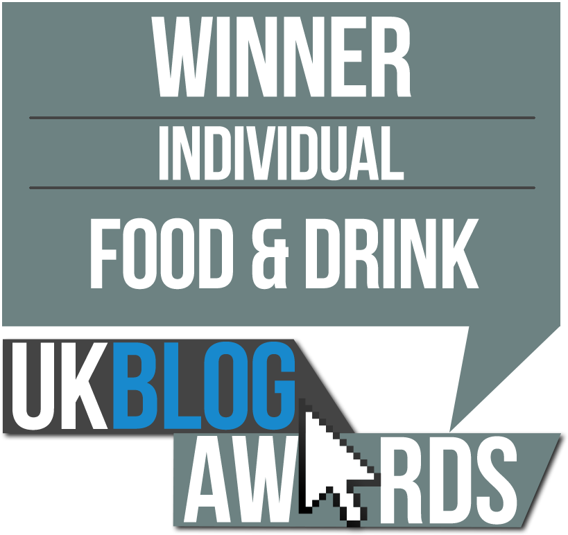 UKBA16 Winner of Best Food & Drink Blog