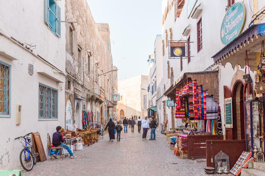 Exploring the medina in Essaouira