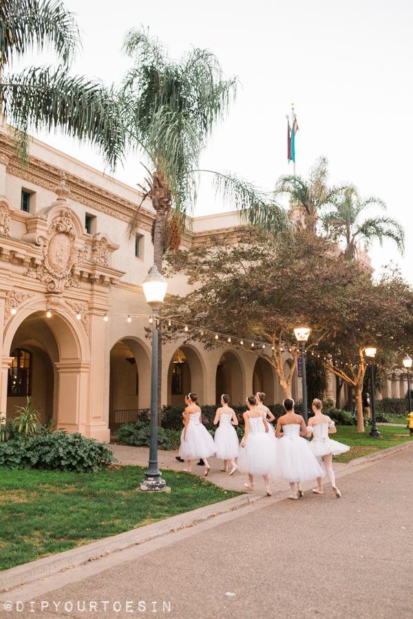 Ballerinas perform in Balboa Park San Diego