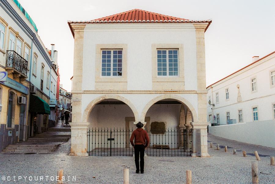 Standing in front of Mercado de Escravos, Lagos, Algarve, Portugal